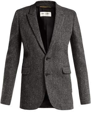 Saint Laurent Herringbone wool-tweed blazer