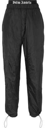 Palm Angels Intarsia-trimmed Shell Track Pants - Black