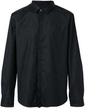 Les Hommes contrast panelled shirt
