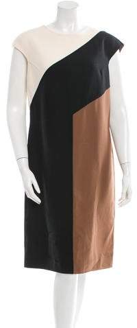 Michael Kors Virgin Wool Colorblock Dress
