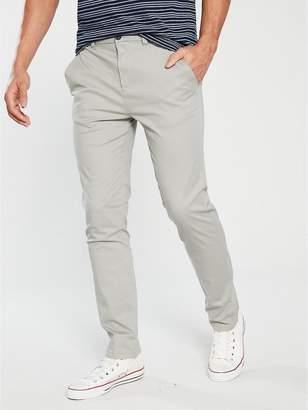Slim Fit Stretch Chino - Light Grey