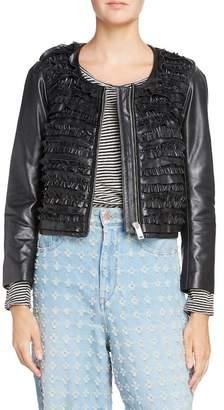 Etoile Isabel Marant Abella Frill Leather Jacket