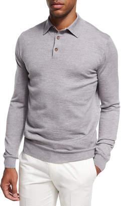 Ermenegildo Zegna Wool-Cashmere Polo Sweater