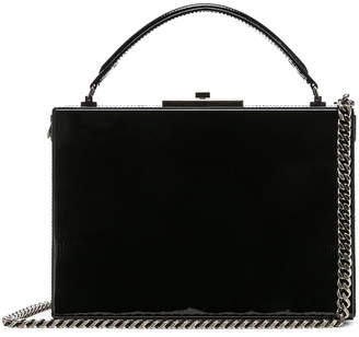 Saint Laurent Nan Leather Box Bag in Black | FWRD