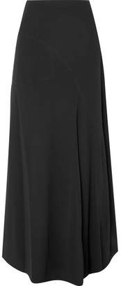Marni Paneled Crepe De Chine Maxi Skirt - Black