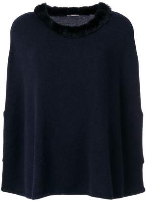 N.Peal cashmere collar poncho