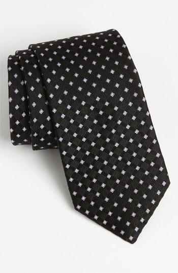 Nordstrom Woven Silk Tie Black Regular