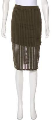 Alexander Wang Perforated Knee-Length Skirt