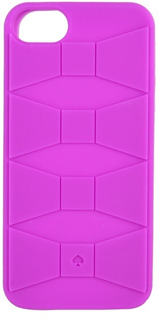 Kate Spade Sculpted Bow Phone Case for iPhone 5 (Baja Rose) - Bags and Luggage