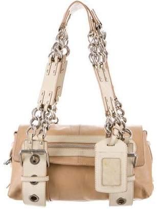 Chloé Leather Chain-Link Shoulder Bag