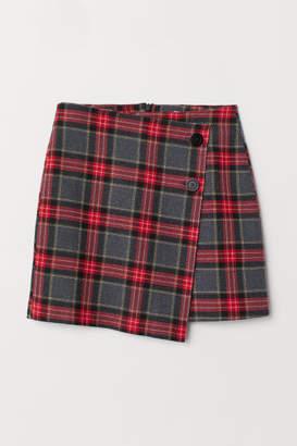 H&M Checked Skirt - Gray