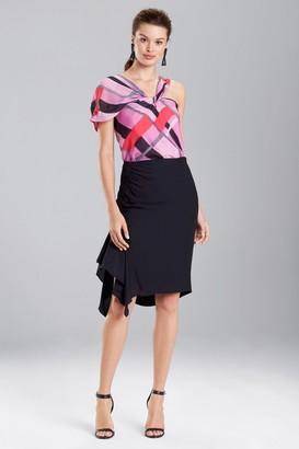 Natori Cotton Like Rouched Skirt