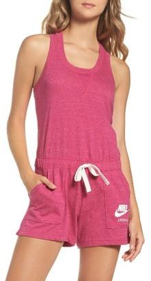 Women's Nike Sportswear Gym Vintage Romper $60 thestylecure.com