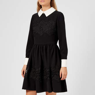 Ted Baker Women's Haeden Collared Lace Panel Dress
