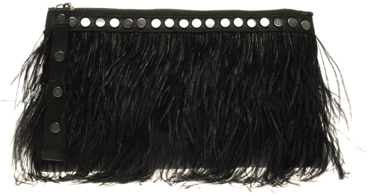 ALDO Keeble Feather Clutch Bag