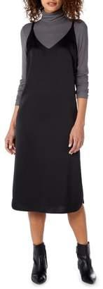 Michael Stars Satin Slip Midi Dress