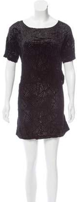 Kimberly Ovitz Velvet Mini Dress