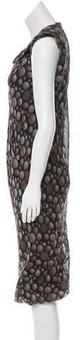 Rick Owens Silk Printed Dress