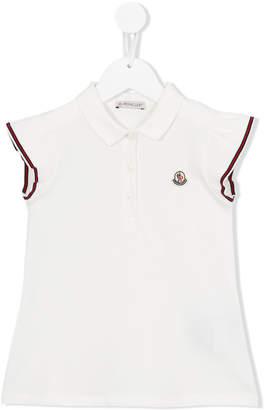 Moncler ruffled sleeve polo shirt