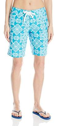 Kanu Surf Women's UPF 50+ Quick Dry Active Prints II Swim Boardshort