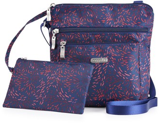 Baggallini Women's Pocket Crossbody with RFID Blocking Pouch
