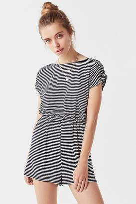 Urban Outfitters Striped Open-Back Romper
