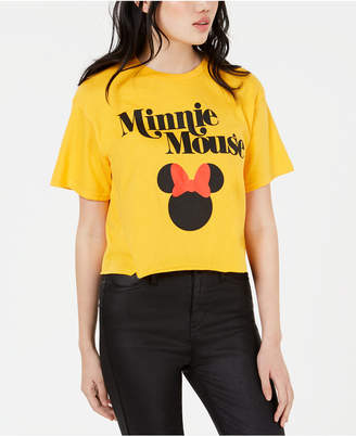 99454a03ca4 Mighty Fine Juniors  Disney Minnie Mouse Cropped Graphic T-Shirt