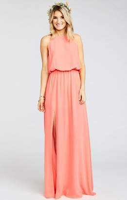 Show Me Your Mumu Heather Halter Dress ~ Bright Coral Crisp