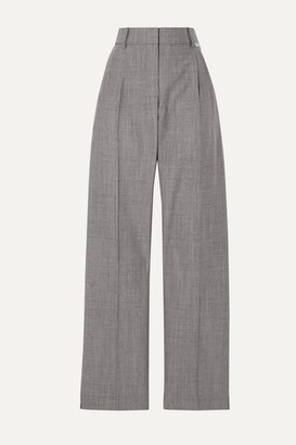 Alexander Wang Stretch Wool And Mohair-blend Tapered Pants - Gray