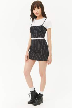 Forever 21 Pinstriped Mini Skirt
