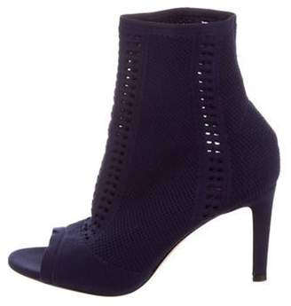 Gianvito Rossi Vires Knit Ankle Boots Navy Vires Knit Ankle Boots
