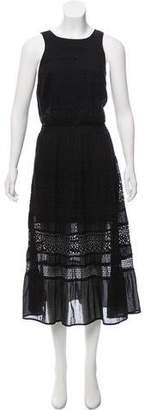 MICHAEL Michael Kors Lace-trimmed Mid Dress
