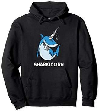 Sharkicorn Funny Ocean Shark Unicorn Hoodie