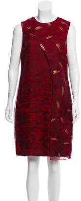 Christian Cota Printed Silk Dress
