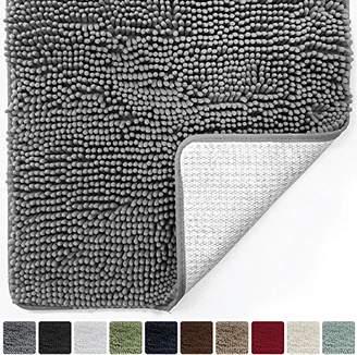 Gorilla Grip Original Luxury Chenille Bathroom Rug Mat (30 x 20)