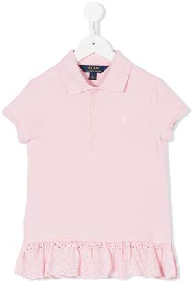 Ralph Lauren Kids eyelet hem polo shirt
