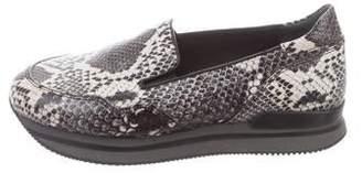Hogan Embossed Flatform Loafers