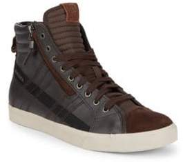 Diesel D-Velows Leather Hi-Top Sneakers