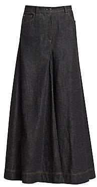 Brunello Cucinelli Women's Denim Wide-Leg Pants