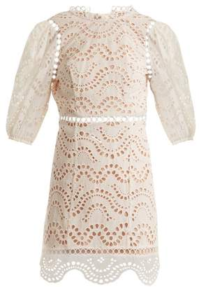 Zimmermann Jaya Wave Cotton Dress - Womens - Ivory