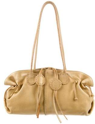 Carlos Falchi Fatto a Mano by Metallic Leather Bag