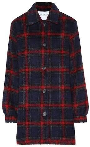 Colette wool-blend plaid jacket