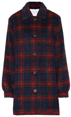Velvet Colette wool-blend plaid jacket