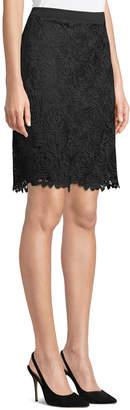 Karl Lagerfeld Paris Floral Lace Pencil Skirt