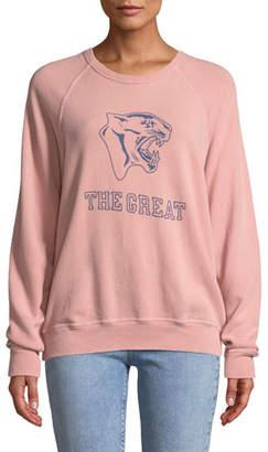 The Great The College Sweatshirt w/ Varsity Graphic