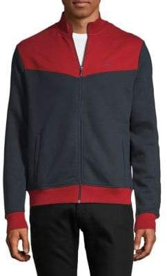 Original Penguin Colorblock Zip-Up Fleece Jacket