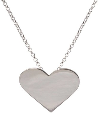 Edge Only Heart Pendant Silver