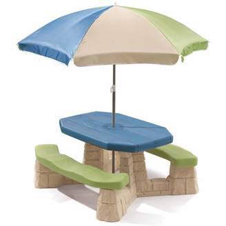 Step2 Naturally Playful Picnic Table with Removable Umbrella