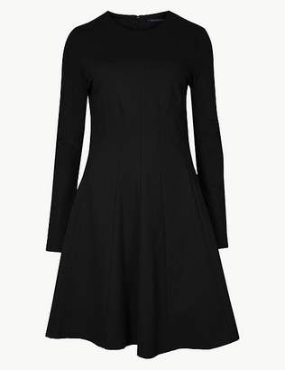 Marks and Spencer Long Sleeve Fit & Flare Mini Dress