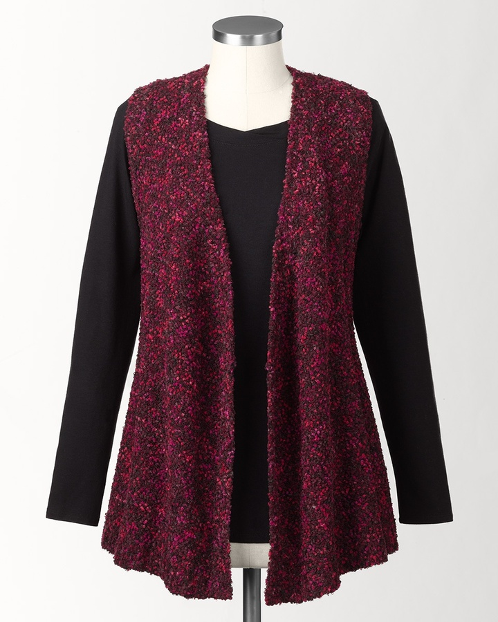 Coldwater Creek Marled sweater vest